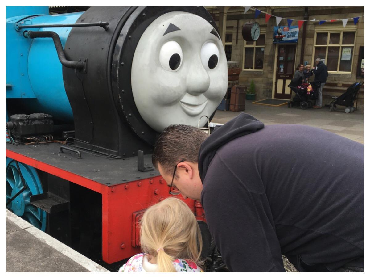 Meeting Thomas at Llangollen Railway