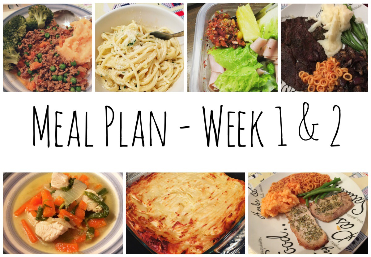Meal Plan Week 1 & 2