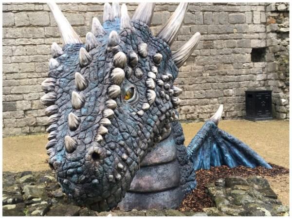 Dwynwen Dragon at Caernarfon Castle