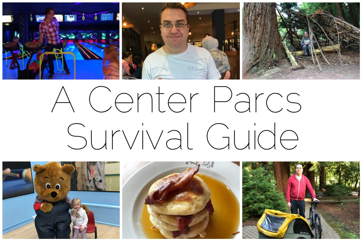 Some photos from our trip to Center Parcs including bowling, having food, some delicious pancakes, bike hire, teddy bear picnic, and den building