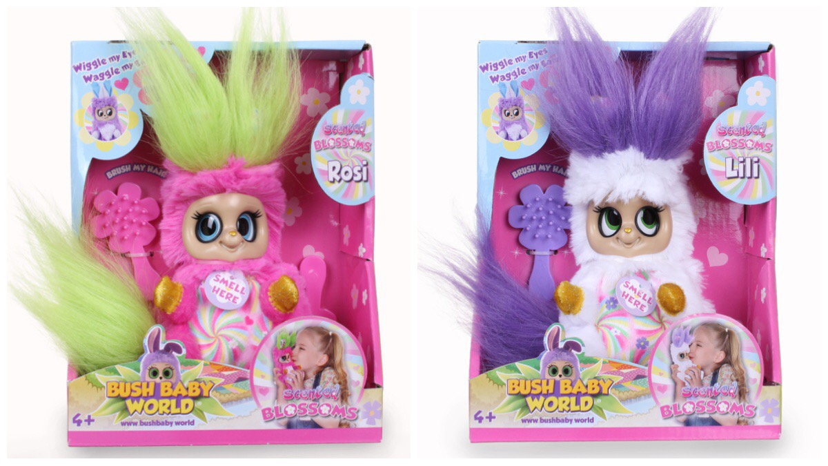 The two new Blossom Meadow Bush Babies toys