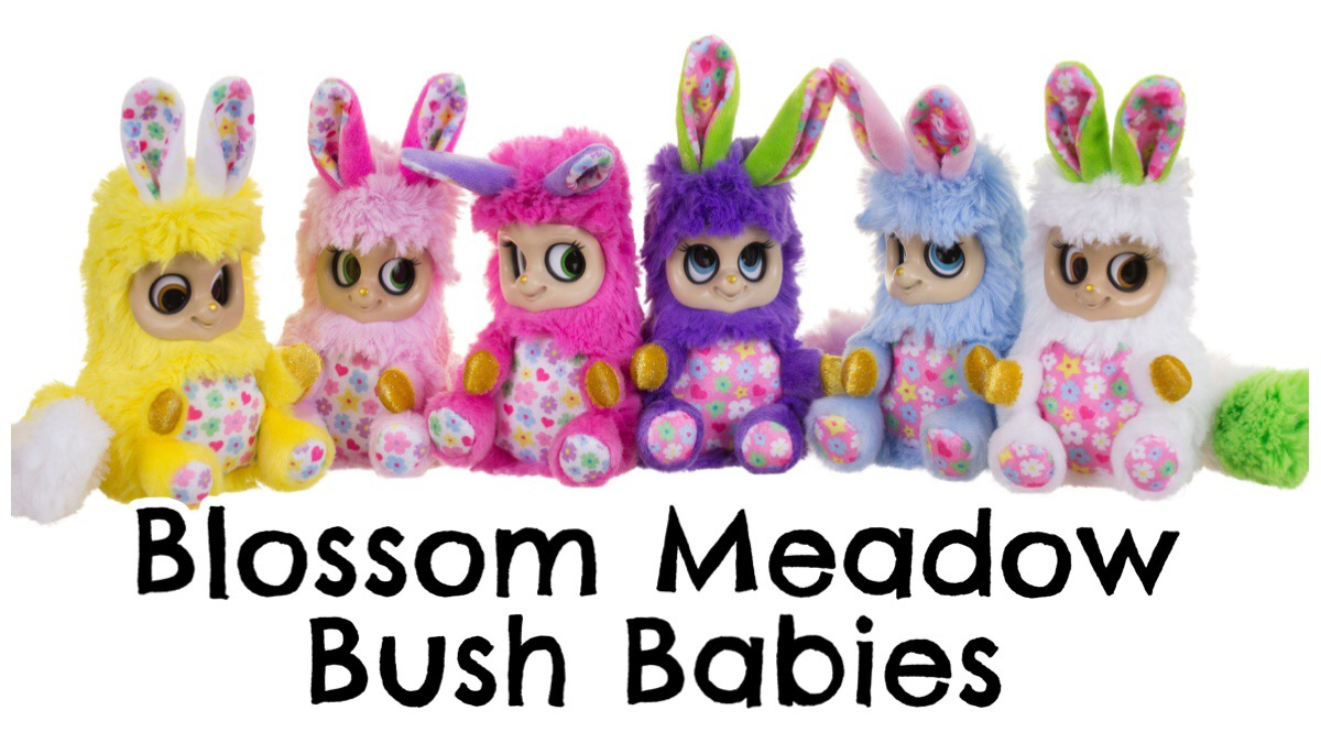 A group of six Blossom Meadow Bush Babies plush toys.