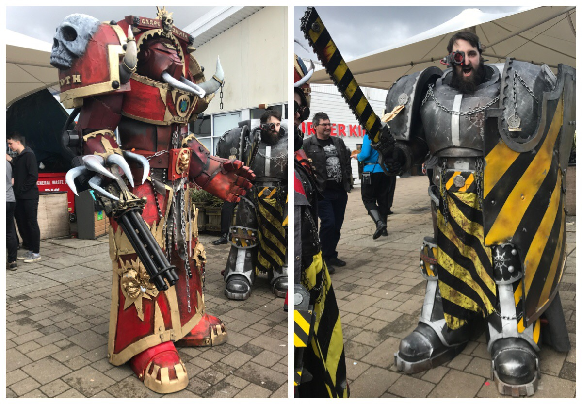 Sci Fi Weekender - two of the cosplayers, Warhammer inspired