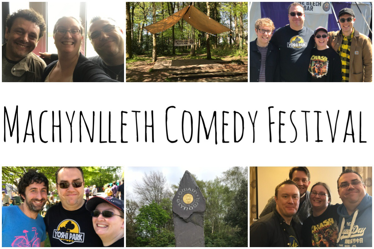 A selection of six images from Machynlleth Comedy Festival including photos of us with Michael Sheen, Josh Widdicombe, Ed Gamble, Mark Watson, Steve McNeil and Rob Sedgebeer