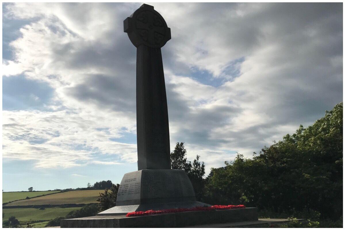 The war memorial at Church Island