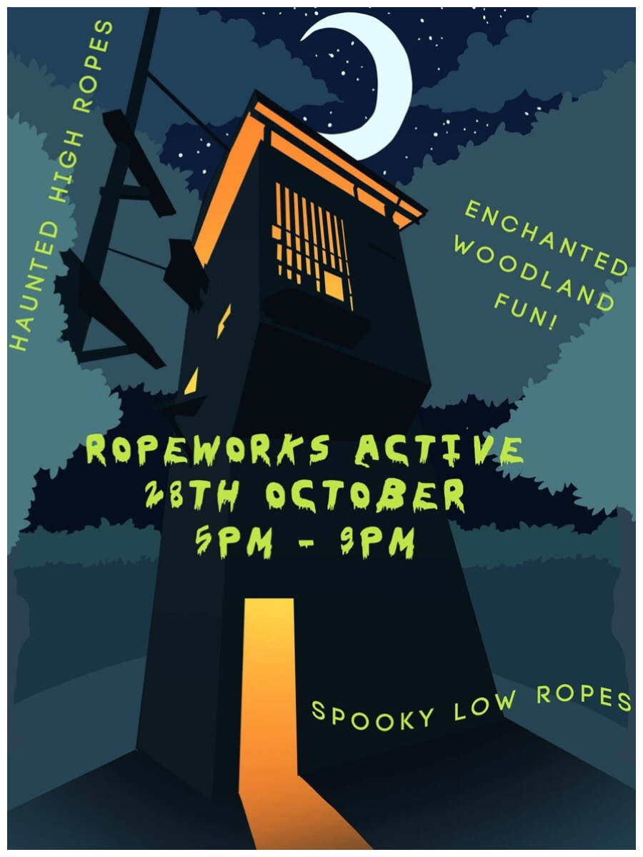 The poster for Ropeworks Active Halloween event
