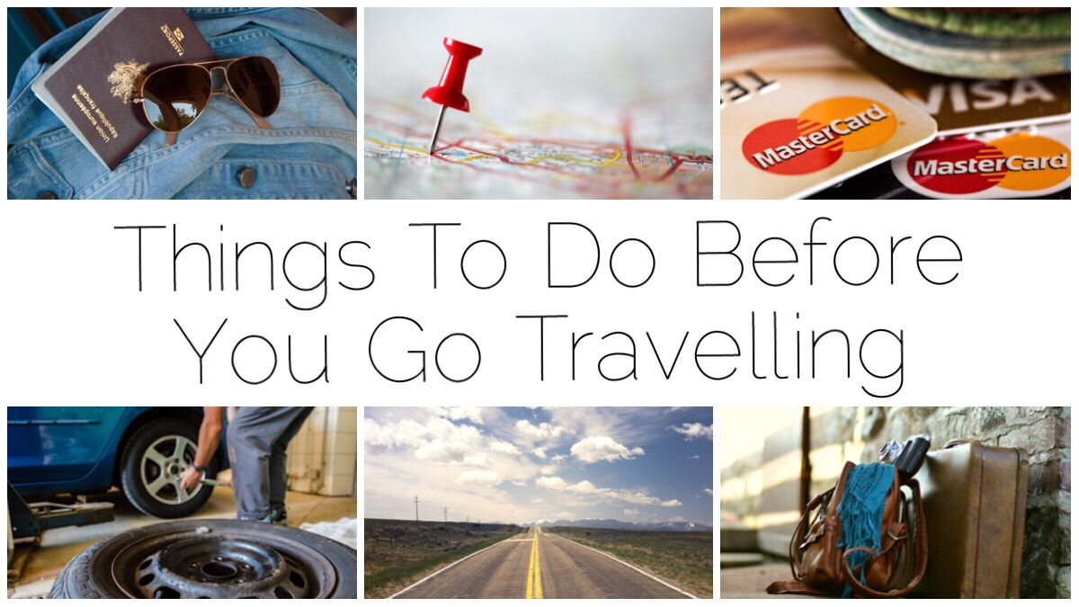 Six different images of travel scenes