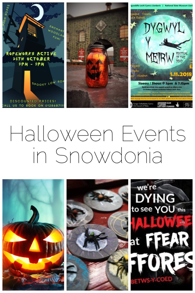 Title image for Halloween events in Snowdonia.