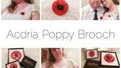 Acdria Poppy Brooches