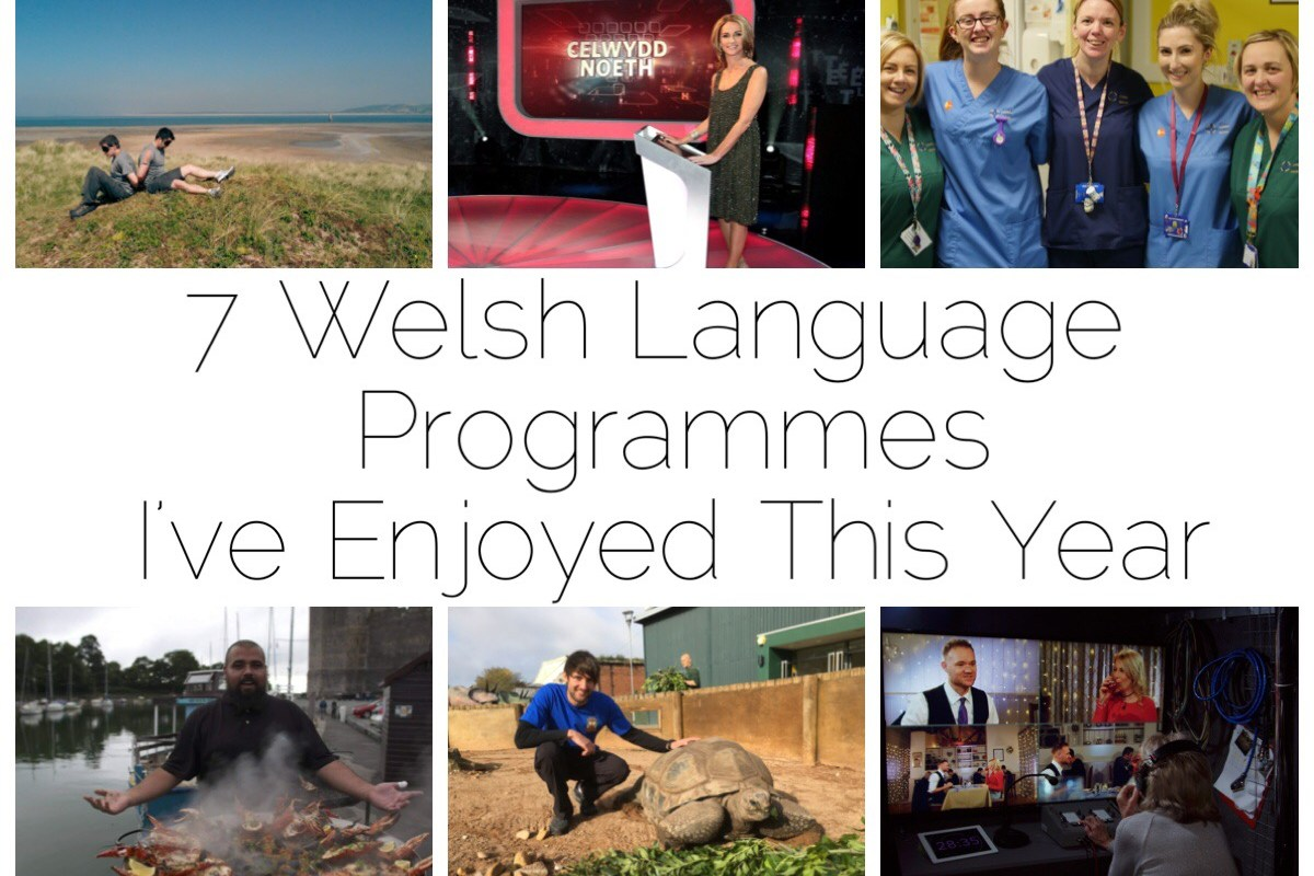 6 of the 7 Welsh language programmes I've enjoyed this year - Dianc!, Celwydd Noeth, Ward Plant, Bwyd Epic Chris, Antur Natur Cyw, Galw Nain Nain NAin