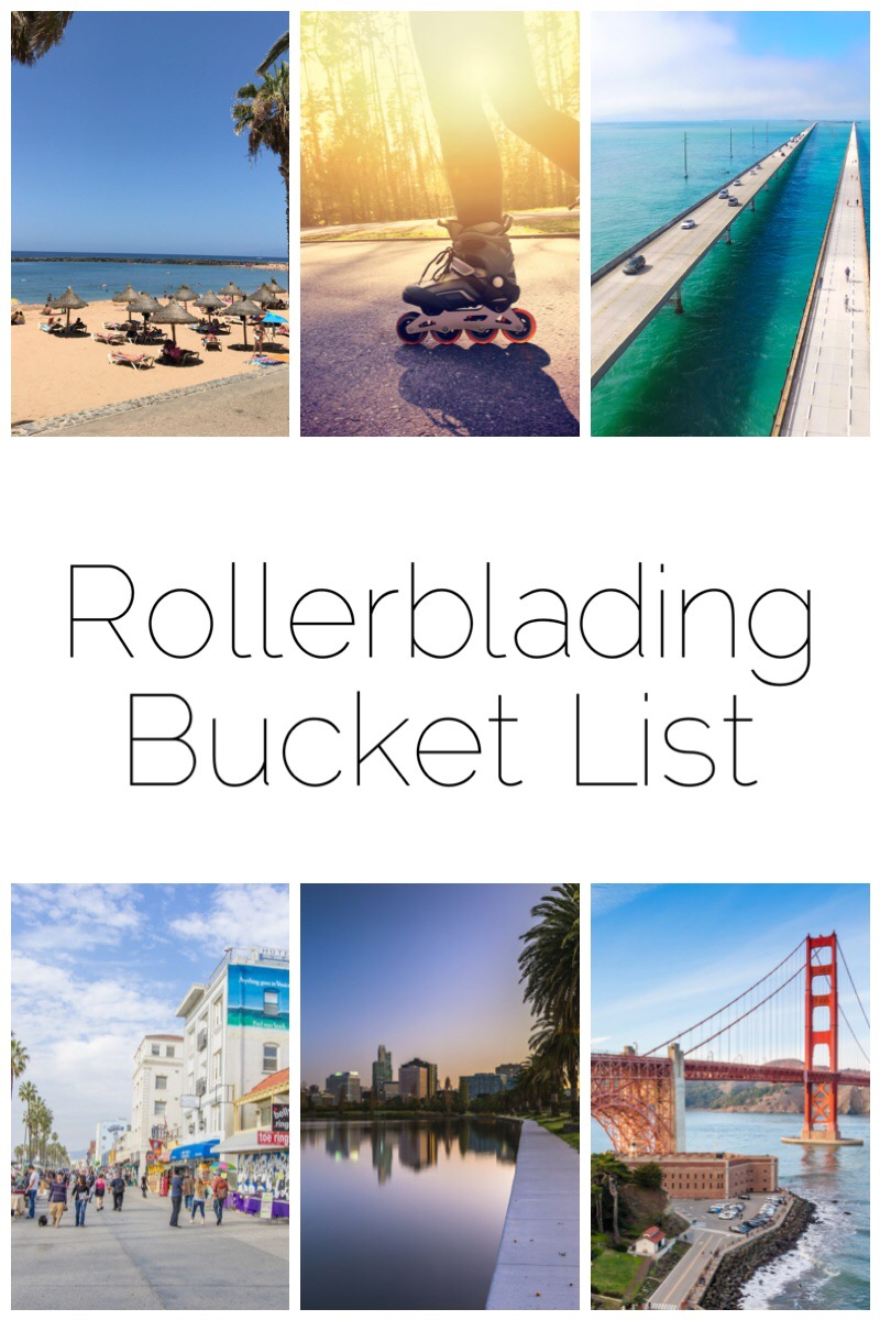 Rollerblading Bucket List - I'm itching to get back on the blades but whilst the weather here in the UK isn't always the best, here's my top 7 places I'd love to rollerblade!