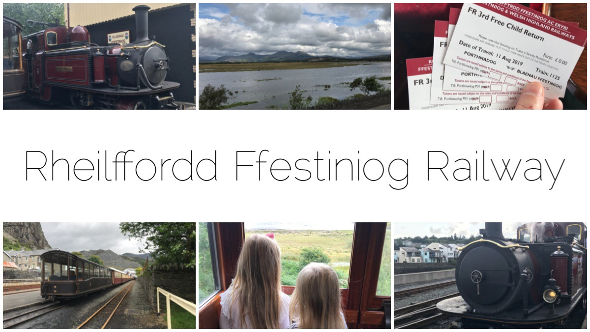 Six different images of our journey on Rheilffordd Ffestiniog Railway