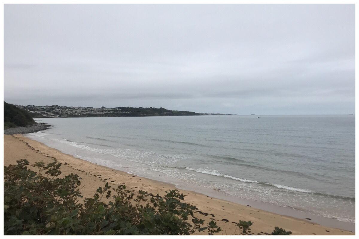 View of the Irish Sea from Benllech beach.