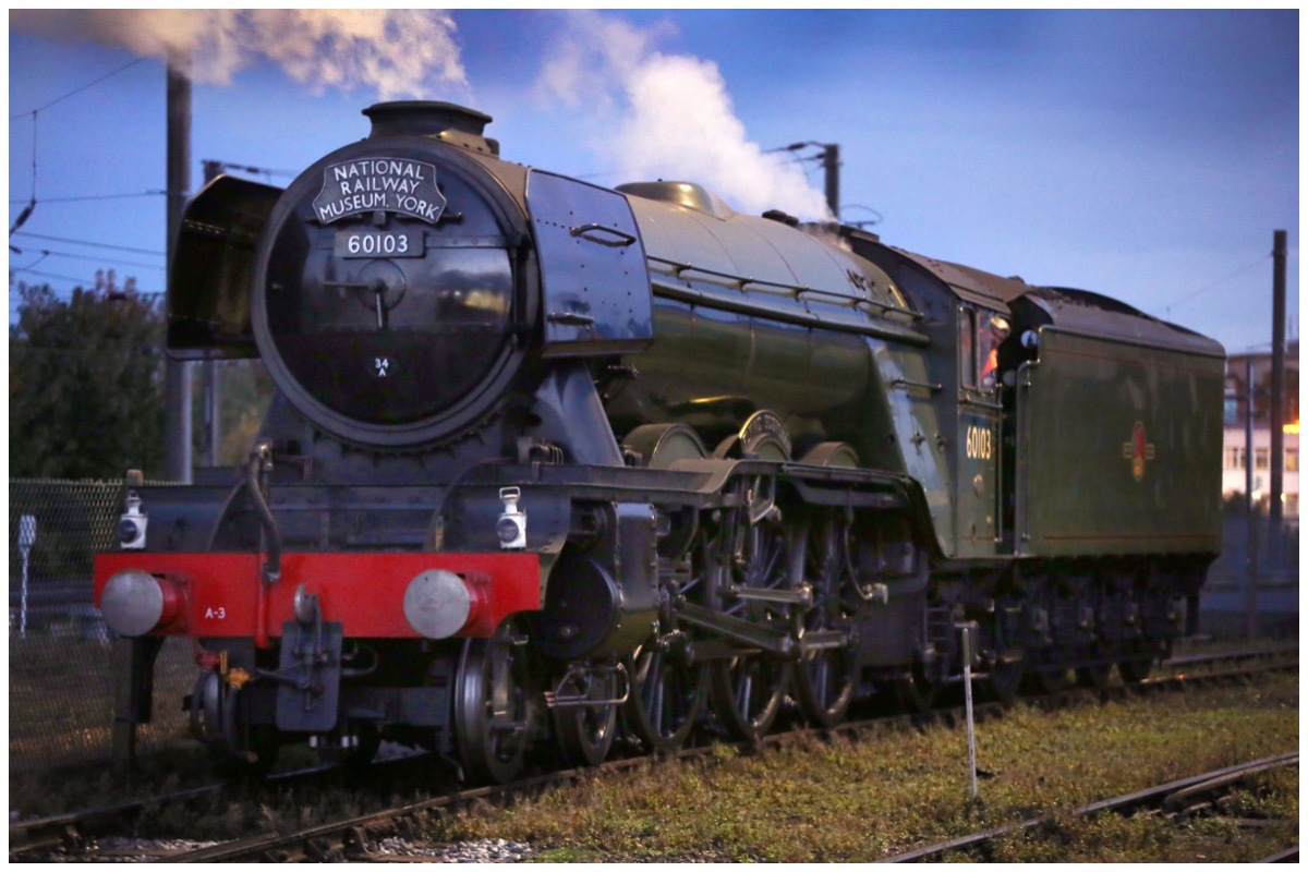 The Flying Scotsman steam engine
