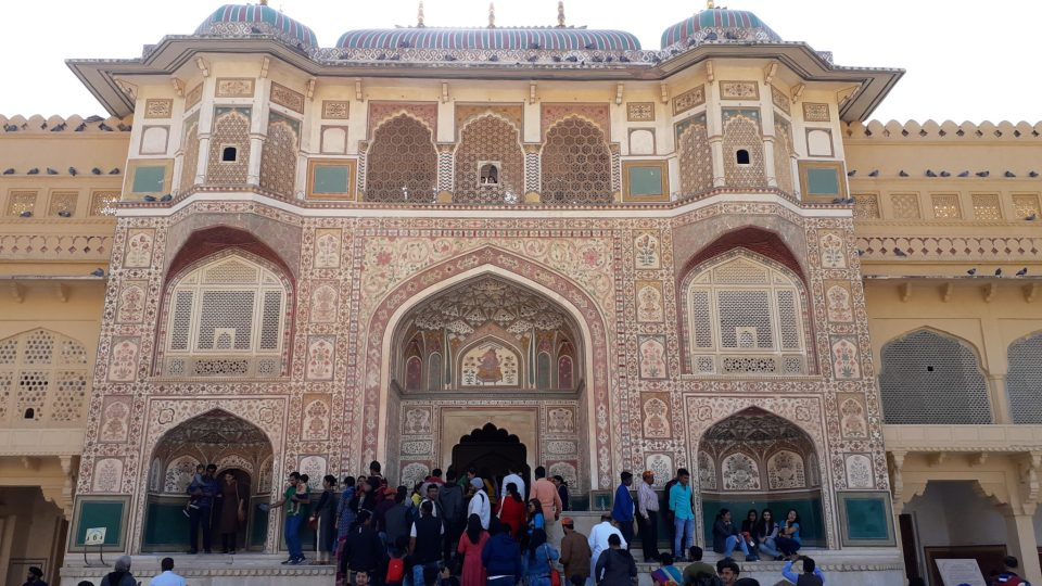 Entry Gate of third courtyard in Amer Fort, Jaipur