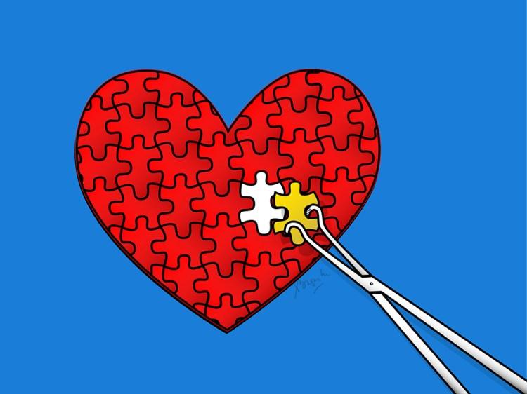 Gambar puzzle bedah kardiovaskular