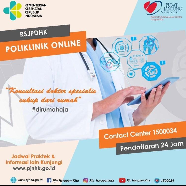 Poliklinik Online RS Jantung dan Pembuluh Darah Harapan Kita