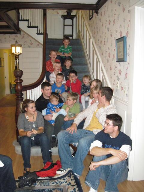 Fourteen of twenty-two grandchildren & one great grandchild!