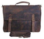 51n2l2THTsL - KomalC 15 Inch Retro Buffalo Hunter Leather Laptop Messenger Bag Office Briefcase College Bag