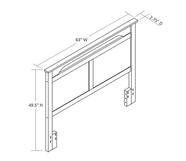 Headboard fixing width and size