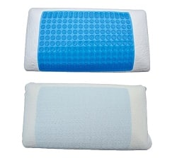 Memory Foam Pillow with Gel Cooling Pad and Muscle Relief