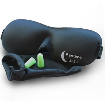 Bedtime Bliss Sleep Mask Review with Earplugs