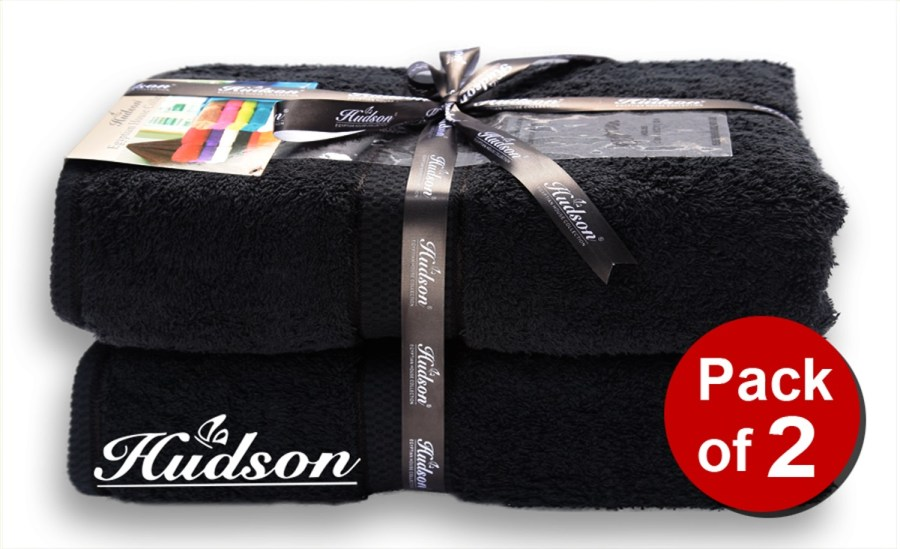 Pack Of 2 pcs Bath Towel - Black