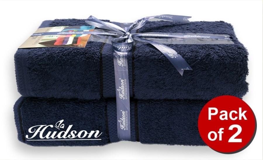 Pack Of 2 pcs Bath Sheet - Navy Blue