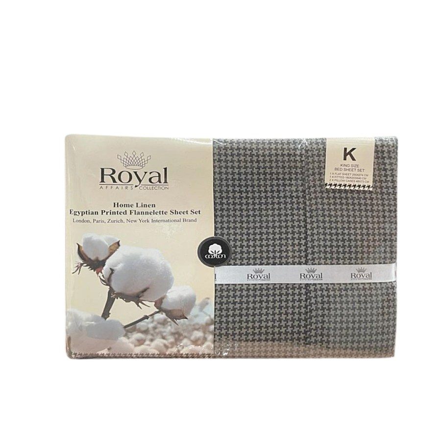 100% Pure Cotton Cozy Winter Flannelette Sheet Sets Design-Tragon~FREE POSTAGE~