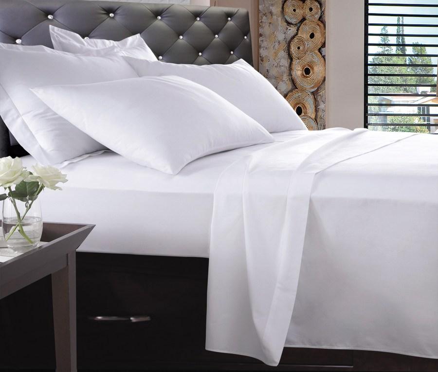 1000TC Pure Egyptian Cotton Sheet Set - White