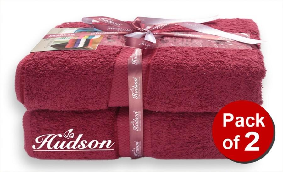 Pack Of 2 pcs Bath Sheet - Red