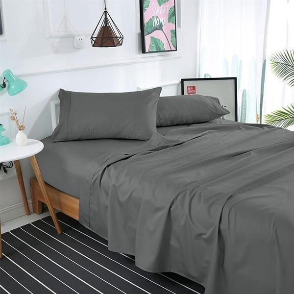 1000TC Pure Egyptian Cotton Sheet Set - Charcoal