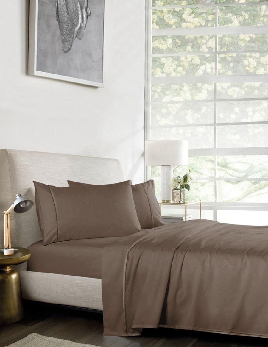 1000TC Pure Egyptian Cotton Sheet Set – DARK BROWN
