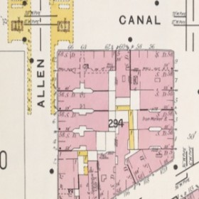 Detail of a 1903 insurance map of New York by the Sanborn Map Company.