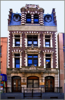 The building as it looks today. The top reads 1904 for the year of construction. (Photo: LuciaM)