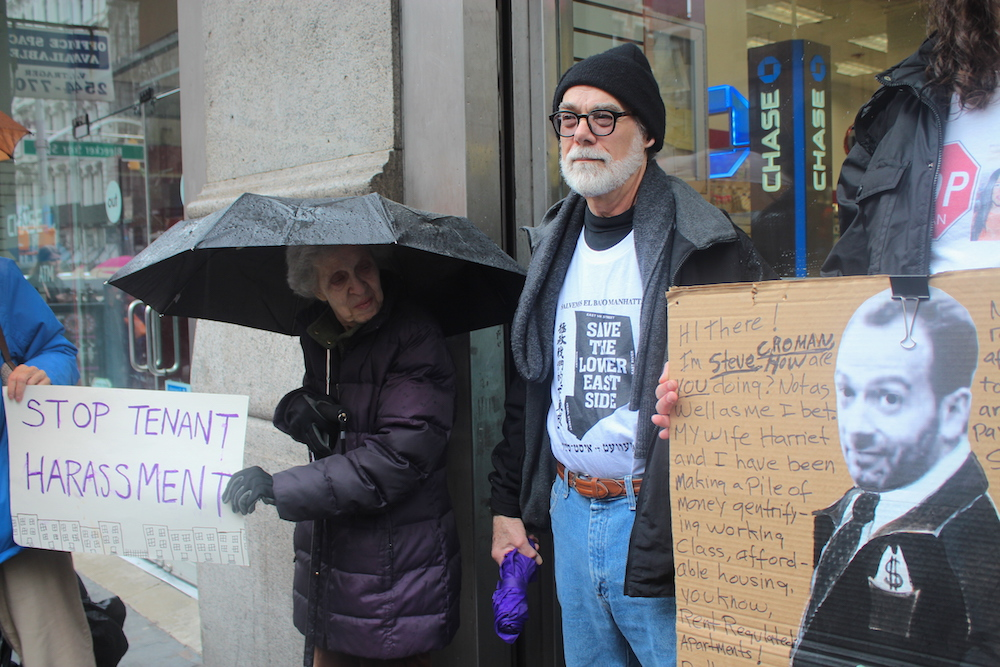 George Tzannes, a Croman tenant from the East Village last month (Photo: Luisa Rollenhagen)