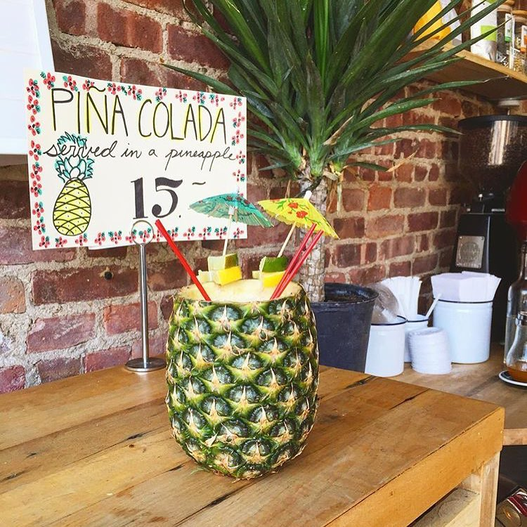 Cocktails range from $7-$11 ($15 if served in a pineapple) and are mixed with Summers cold-pressed juices. (Photo courtesy Father Knows Best)