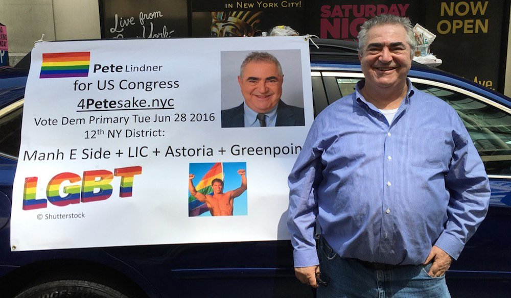 Pete Lindner is the Democratic challenger for District 12 (via @Peter_from_NYC / Twitter)