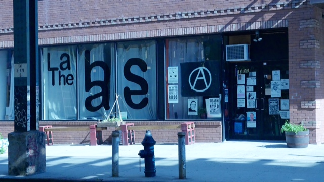 The Base, Bushwick's anarchist hub. (Photo: Karissa Gall)