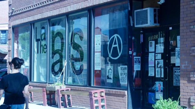 The Base, Bushwick's anarchist hub. (Photo: Karissa Gall)