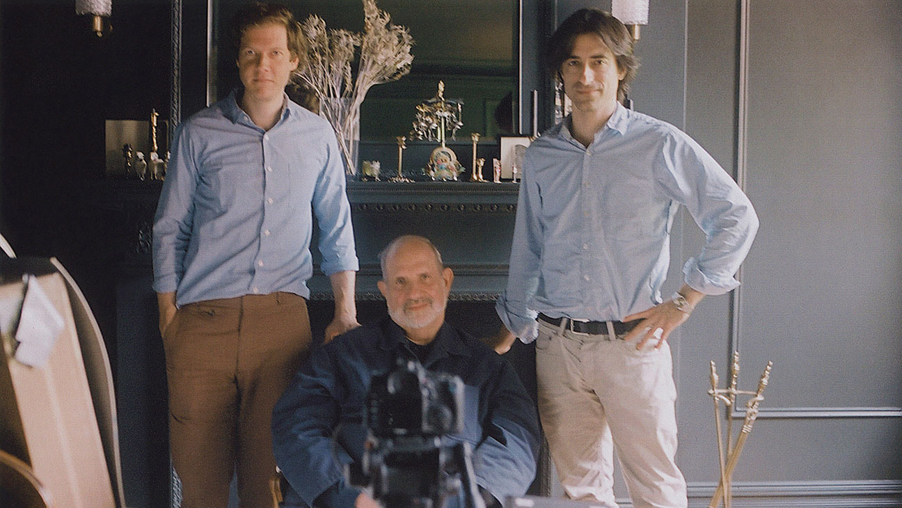 Jake Paltrow, Brian De Palma and Noah Baumbach. Courtesy of A24.