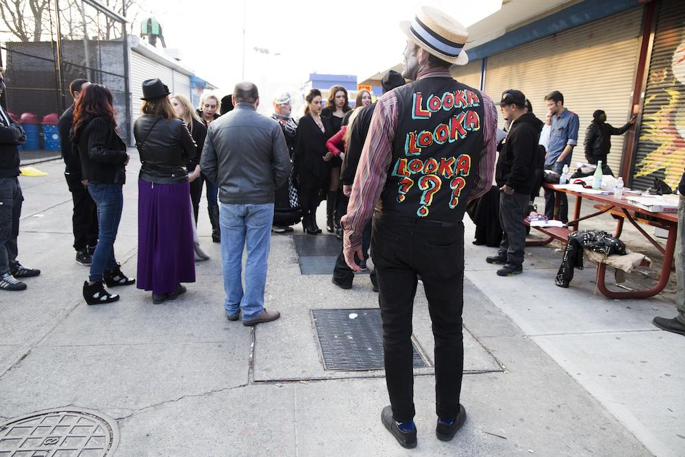 On location in Coney Island (Photo: Nicole Disser)