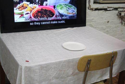 "Kat JK Lee, ""Mukbang [Conspicuous Consumption] I"" (photo: Cassidy Dawn Graves)"