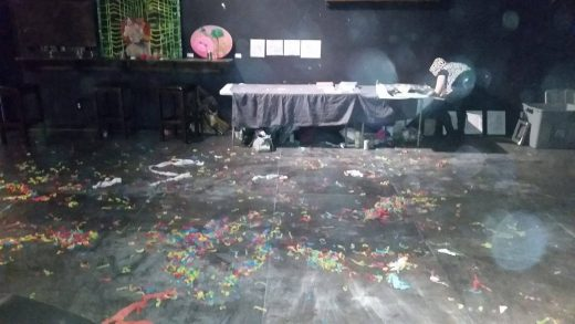 "The ""mess"" created at The Paper Box at Wild Torus and Non Grata"