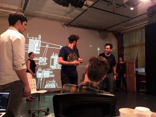 in rehearsal (photo: Callie Jane Farnsworth)
