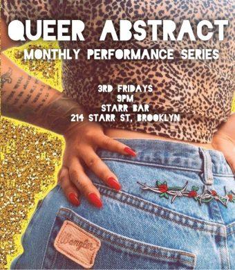 (flyer via Queer Abstract / Facebook)