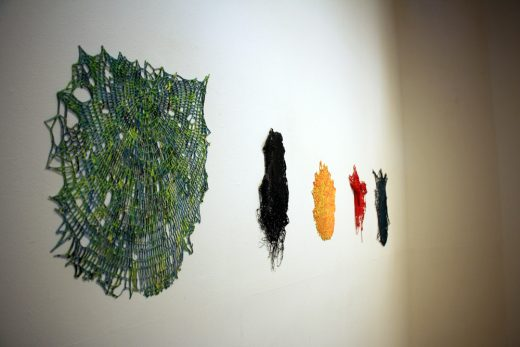 Installation view of Michael Anthony Simon