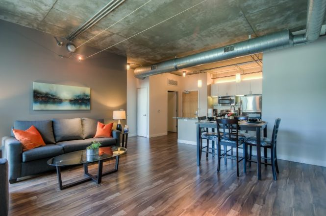 Modern Furnished Living Rooms In Every Unit At Bedford Corporate Housing S Property Downtown La Near