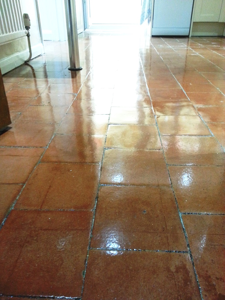 Quarry tiles in Cople After Cleaning