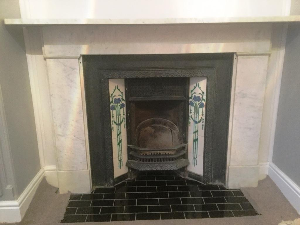Marble Fireplace After Cleaning Bedford